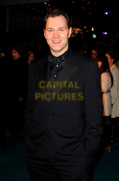 "DAVID MORRISSEY.""The Other Boleyn Girl"" Royal Film Premiere, Odeon Cinema, Leicester Square, London, England..February 19th, 2008.half length black tuxedo bow tie hands in pockets .CAP/CAN.©Can Nguyen/Capital Pictures."