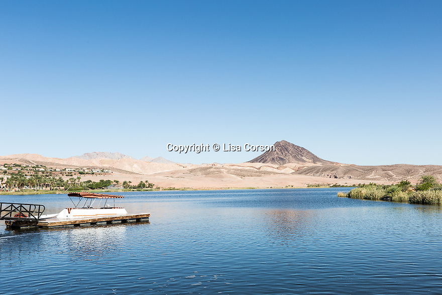 Looking out on Lake Las Vegas from the former Fred Segal Estate, Henderson, Nev., Sept. 19, 2014.