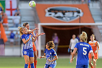 Houston, TX - Sunday Sept. 11, 2016: Kristie Mewis, Morgan Brian during a regular season National Women's Soccer League (NWSL) match between the Houston Dash and the Boston Breakers at BBVA Compass Stadium.