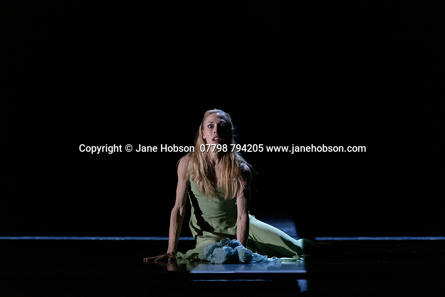 "Edinburgh, UK. 02.08.2019. Scottish Ballet presents ""The Crucible"", choreographed by Helen Picketts, composed by Peter Salem, based on the Arthur Miller play, in its world premiere at the Edinburgh Playhouse, as part of the Edinburgh International Festival. Set design and lighting is by David Finn, with set and costume design by Emma Kingsbury. The dancers are: Constance Devernay (as Abigail), Araminta Wraith (as Elizabeth Proctor), Nicholas Shoesmith (as John Proctor), Christopher Harrison (Danforth), Cira Robinson (as Tituba), Thomas Edwards (as Reverend Parris), Bruno Micchiardi (as Reverend Hale), Rimbaud Patron (as Giles Corey), Jerome Barnes (as Francis Nurse), Eado Turgeman (as Thomas Putnam), Grace Horler (as Rebecca Nurse), Grace Paulley (as Martha Corey), Melissa Parsons (as Ann Putnam), Aisling Brangan (as Sarah Good), Jamie Reid (as George Jacobs), Kayla-Maree Tarantolo (as Betty), Clair Souet (as Mary), Roseanna Leney (as Susanna), Amy McEntee, (as Mercy), Matthew Broadbent (as Cheever), Simon Schilgen (as Marshall Herrick), and Andrew Peasgood (as Judge Hathorne). Photograph © Jane Hobson."
