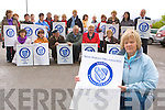 Sheila Dickson and members of the Irish Nurses Organisation who held a protest against the closure of a ward in St Columbanus, outside Killarney District Hospital on Monday front row l-r: Breda O'Connor, Aileen Cronin, Cllr: Donal O'Grady, Cllr: Brendan Cronin, Marie Moloney, Catherine O'Reilly, Tricia O'Callaghan. Back row: Geraldine Morgan, Esther Greene, Theresa Kerins, Noreen Daly, Maureen Murphy, Donal Hayes, Nancy Dineen, Helen Costello, Deirdre Buckley, Eileen Doody, Helen Curtin, Patrica Lyne, Trish Wright, Bridget O'Shea and Michael Dineen