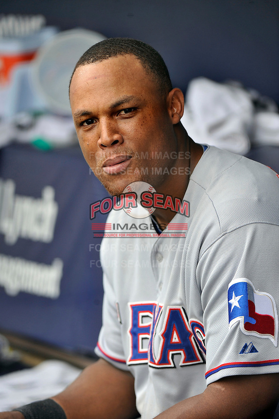 Texas Rangers third baseman  Adrian Beltre #29 during a game against the New York Yankees at Yankee Stadium on June 16, 2011 in Bronx, NY.  Yankees defeated Rangers 3-2.  Tomasso DeRosa/Four Seam Images