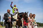 JUNE 08: Rushing Fall with Javier Castellano up wins The The Just a Game Stakes at Belmont Park in Elmont, New York on June 08, 2019. Evers/Eclipse Sportswire/CSM