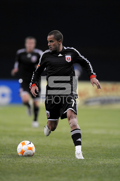 DC United midfielder Fred (7). DC United defeated Harbour View 5-0 (6-1 on aggregate) in the second leg of the CONCACAF Champions' Cup quarterfinal series at RFK Stadium in Washington D. C. on March 18, 2008.