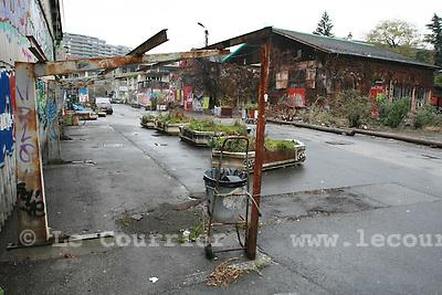 Genève, le 22.11.2007.Site du centre culturel et alternatif d'Artamis..© Le Courrier / J.-P. Di Silvestro
