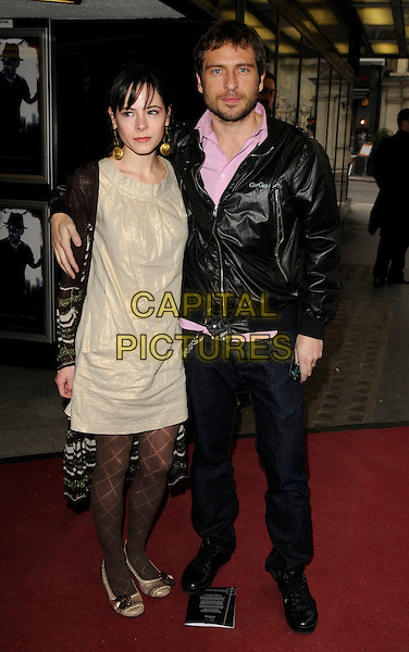 "STEPHEN LORD & guest  .Attends the UK Film Premiere of ""Kill Kill Faster Faster"" at the Curzon Mayfair Cinema, London, England, .16th April 2007..half length black jacket pink shirt.CAP/CAN.©Can Nguyen/Capital Pictures"