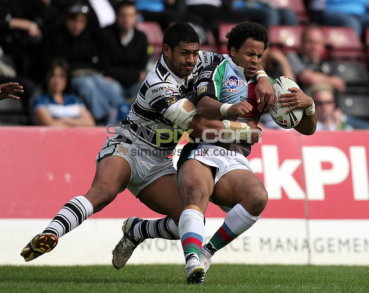 PICTURE BY VAUGHN RIDLEY/SWPIX.COM - Rugby League - Super League - Harlequins v Hull FC - The Stoop, London, England - 18/05/08...Copyright - Simon Wilkinson - 07811267706..Harlequins Rikki Sheriffe.