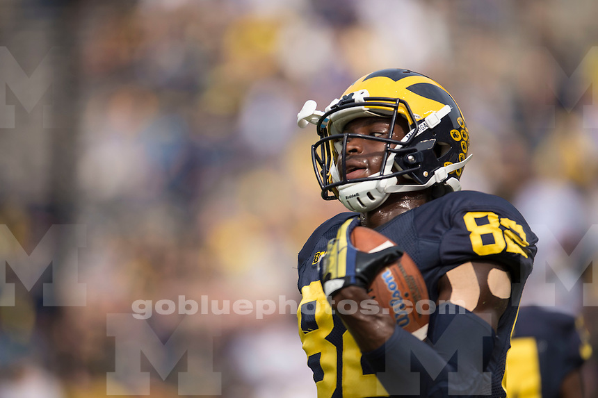 The University of Michigan football team defeats BYU, 31-0, at Michigan Stadium in Ann Arbor on Sept. 26, 2015.