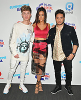 HRVY (Harvey Leigh Cantwell), Jonas Blue and Dakta (Sophie Elton) at the Capital FM Summertime Ball 2018, Wembley Stadium, Wembley Park, London, England, UK, on Saturday 09 June 2018.<br /> CAP/CAN<br /> &copy;CAN/Capital Pictures