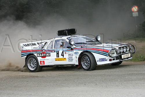 23.07.2005. British Rally driver Dave Kedward and co-driver Sooty in their Lancia Rallye 037 Baujahr 1984 at the The Historic Rally party 2005 Eifel-Rally