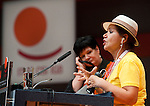 Berlin-Germany - May 23, 2014 -- International Trade Union Confederation - 3rd ITUC World Congress 'Building Workers' Power'; here, Nair Goulart (ri), outgoing Deputy President of ITUC, with Sharan Burrow (le), ITUC-General Secretary -- Photo: © HorstWagner.eu / ITUC
