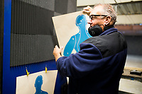 NWA Democrat-Gazette/CHARLIE KAIJO John Hundley of Garfield holds up his shooting target, Friday, February 9, 2018 at Parker's Indoor Gun Range in Rogers.<br /><br />&quot;I just started here a couple weeks ago. Me and my grandson we target practice,&quot; Hundley said. &quot;I used to shoot in the military in 1970. Haven&Otilde;t done a whole lot since then.&quot;<br /><br />Hundley said he will be attending one of the concealed carry classes that Parker's Gun Range is hosting. A new enhanced carry law went into effect in January. He is part of a growing interest in concealed carry permits. <br /><br />The law allows concealed carry permit holders to carry their guns on to college campuses, bars and some public buildings. More than 70 concealed carry instructors received their certificates to teach the new 8-hour class in Arkansas. <br /><br />Parker's Gun Range hosts more than a dozen instructors who hold all or part of their concealed carry class including the shooting test at their range. The concealed carry class is a prerequisite for the enhanced class. Parker's will hold their first enhanced concealed carry class this Saturday. <br /><br />&quot;There's been a lot of phone calls, a lot of interest,&quot; Chuck Tripp, range safety office, said of the concealed carry classes. &quot;It&Otilde;s just been a steady growth. Classes are always full.&quot;<br /><br />All of the instructors who use Parker's range are either NRA certified instructors or NRA Range Safety officers Tripp said.