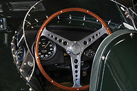 BNPS.co.uk (01202 558833)<br /> Pic: TimScott/RM Sotheby's/BNPS<br /> <br /> One of the earliest Jaguar D-Types ever produced has emerged for sale at auction for an eye-watering £5.5m.<br /> <br /> The pristine roadster was built in 1954 and was just the seventh example to be put on general sale by the British car giants.<br /> <br /> It has spent much of its life in Australia, where its first owner Bib Stillwell, raced it extensively throughout its early years.<br /> <br /> The open-topped motor was later bought by racing driver Richard Attwood who won the Le Mans in 1970 in a Porsche 917K.