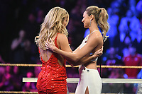 NEW YORK, NY - APRIL 6: Torrie Wilson and Stacy Keibler at the 2019 WWE Hall Of Fame Ceremony at the Barclay's Center in Brooklyn, New York City on April 6, 2019.      <br /> CAP/MPI/GN<br /> ©GN/MPI/Capital Pictures