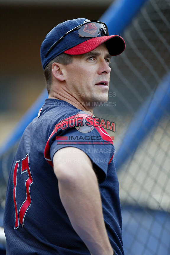 Travis Fryman of the Cleveland Indians before a 2002 MLB season game against the Los Angeles Dodgers at Dodger Stadium, in Los Angeles, California. (Larry Goren/Four Seam Images)