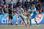 Wellington Phoenix (in grey) vs Bayer Leverkusen (in blue), during their Main Tournament Plate Final match, part of the HKFC Citi Soccer Sevens 2017 on 28 May 2017 at the Hong Kong Football Club, Hong Kong, China. Photo by Chris Wong / Power Sport Images