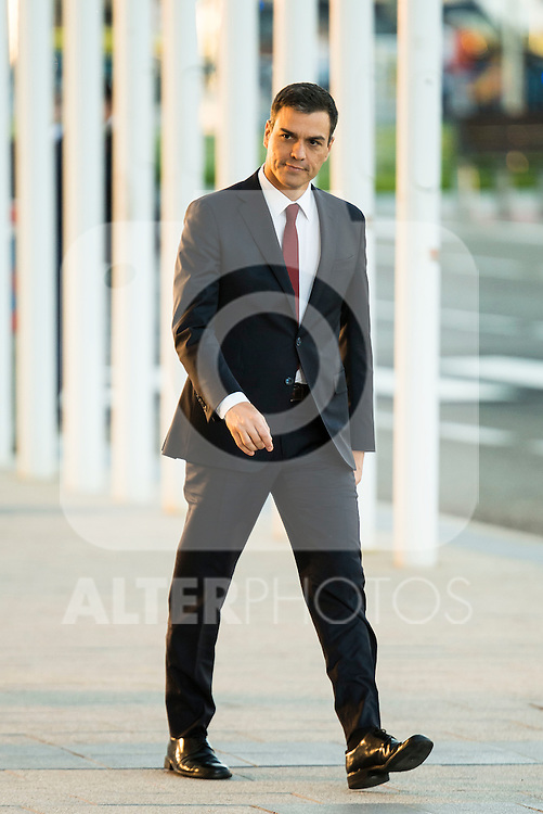The president of PSOE, Pedro Sanchez attends to the debate between the 4 principals candidates at Palacio de Congresos in Madrid. June 13, 2016. (ALTERPHOTOS/BorjaB.Hojas)
