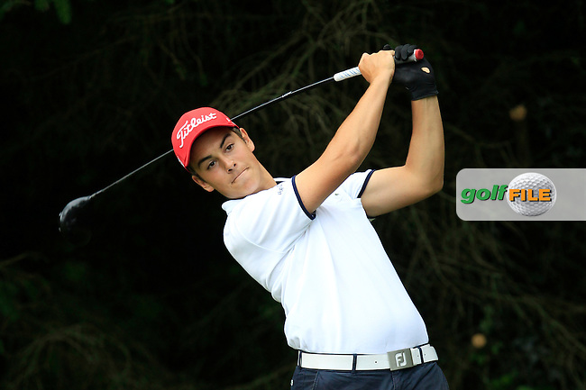 Antoine Auboin (France) on the 2nd tee during Round 3 of the Irish Boys Amateur Open Championship at Tuam Golf Club on Thursday 25th June 2015.<br /> Picture:  Thos Caffrey / www.golffile.ie