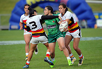 The Women's Cup Final between Manawatu and Waikato on day two of the 2018 Bayleys National Sevens at Rotorua International Stadium in Rotorua, New Zealand on Sunday, 14 January 2018. Photo: Dave Lintott / lintottphoto.co.nz