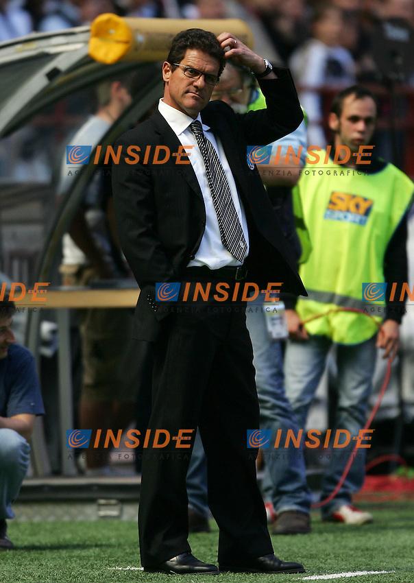 Milano 8/5/2005 Campionato Italiano Serie A<br /> Milan Juventus 0-1<br /> Fabio Capello allenatore della Juventus<br /> Juventus trainer Fabio Capello<br /> Foto Andrea Staccioli Insidefoto