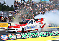 Aug. 3, 2014; Kent, WA, USA; NHRA funny car driver Bob Tasca III during the Northwest Nationals at Pacific Raceways. Mandatory Credit: Mark J. Rebilas-