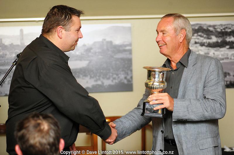 Cricket Wellington Rothbury Wilkinson Awards club dinner at the Long Room, Wellington, New Zealand on Thursday, 16 April 2015. Photo: Dave Lintott / lintottphoto.co.nz