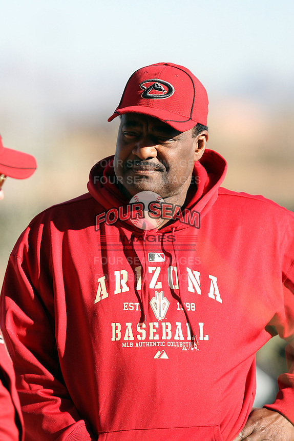 Don Baylor (hitting coach), Arizona Diamondbacks 2011 spring training workouts at the Diamondbacks new training complex at Salt River Fields at Talking Stick, Scottsdale, AZ - 02/14/2011.Photo by:  Bill Mitchell/Four Seam Images.