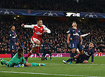 Arsenal's Alexis Sanchez celebrates his sides second goal during the Champions League group A match at the Emirates Stadium, London. Picture date November 23rd, 2016 Pic David Klein/Sportimage