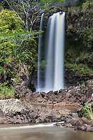 Pe'epe'e Falls waterfall, Hilo, Big Island, Hawaii