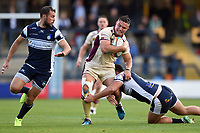 Will Owen of Doncaster Knights takes on the Yorkshire Carnegie defence. Greene King IPA Championship match, between Yorkshire Carnegie and Doncaster Knights on September 17, 2017 at Headingley Stadium in Leeds, England. Photo by: Patrick Khachfe / Onside Images