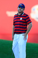J.B. Holmes US Team misses his putt at the 18th green during Saturday Afternoon Fourball Matches of the 41st Ryder Cup, held at Hazeltine National Golf Club, Chaska, Minnesota, USA. 1st October 2016.<br /> Picture: Eoin Clarke | Golffile<br /> <br /> <br /> All photos usage must carry mandatory copyright credit (&copy; Golffile | Eoin Clarke)