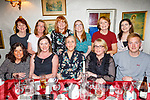 Martina O'Donoghue from Castleisland celebrating her 40th birthday in Cassidys on Friday.<br /> Seated l to r: Mairead Nolan, Maureen Canty, Mae O'Connor, Martina O'Donoghue and James Moriarty.<br /> Back l to r: Sheila Leen, Elaine Clifford, Caroline McCarthy, Sarah Higgins, Liz Walsh and Christina O'Hanlon.