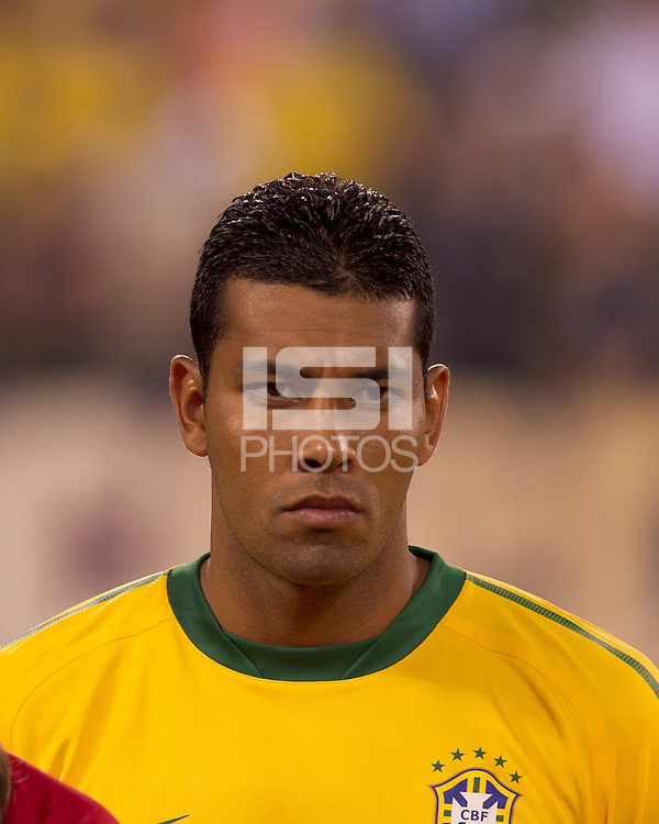 Brazil defender Andre Santos (6). Brazil  defeated the US men's national team, 2-0, in a friendly at Meadowlands Stadium on August 10, 2010.