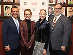 Stan Ponte, Julie White, Harriet Harris and Gabriel Stelian-Shanks attends the 2018 Drama League Awards nominees at Sardi's on April 18, 2018 in New York City.