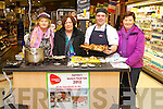 Pictured at Garveys Super Valu fair on Thursday last were l-r: Joan Maunsell, Mary Mason, Stephen Trew (Chef) and Ann Kearney..