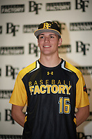 Christopher Broadbent (16) of Sky View High School in Richmond, Utah during the Baseball Factory All-America Pre-Season Tournament, powered by Under Armour, on January 12, 2018 at Sloan Park Complex in Mesa, Arizona.  (Zachary Lucy/Four Seam Images)