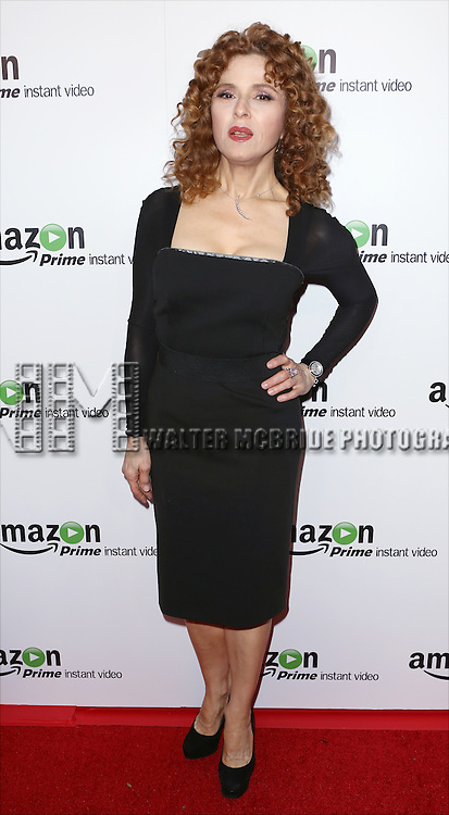 Bernadette Peters attending the Amazon Red Carpet Premiere for 'Mozart in the Jungle' at Alice Tully Hall on December 2, 2014 in New York City.