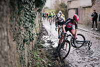 trying to avoid the crashed riders ahead<br /> <br /> 51th Le Samyn 2019 <br /> Quaregnon to Dour (BEL): 200km<br /> <br /> ©kramon
