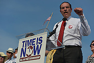 April 10, 2013  (Washington, DC)  D.C. Mayor Vincent Gray speaks to thousands gathered at the U.S. Capitol on April 10, 2013, to rally for immigration reform.  (Photo by Don Baxter/Media Images International)