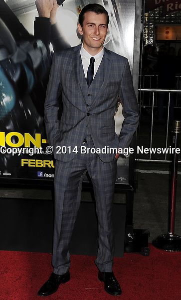 Pictured: Cameron Moir<br /> Mandatory Credit &copy; Joseph Gotfriedy/Broadimage<br /> &quot;Non-Stop&quot; - Los Angeles Premiere<br /> <br /> 2/24/14, Westwood, California, United States of America<br /> <br /> Broadimage Newswire<br /> Los Angeles 1+  (310) 301-1027<br /> New York      1+  (646) 827-9134<br /> sales@broadimage.com<br /> http://www.broadimage.com