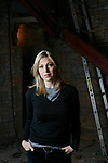 NEW YORK  --  MARCH 09, 2007:   Tatum O'Neal poses for a portrait in the basement of Broadway East (117 East Broadway) while it was under construction on March 09, 2007 in New York City.  (Photograph by Michael Nagle)