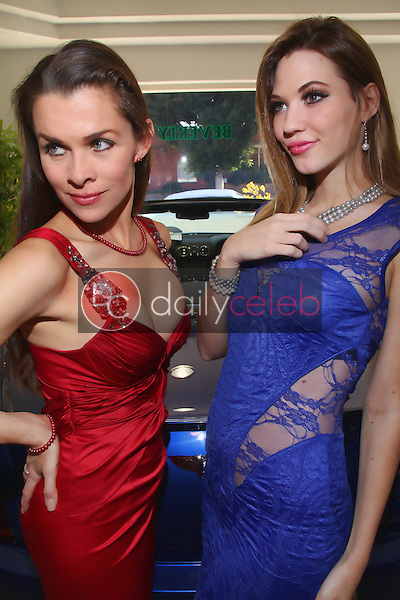 Alicia Arden, Kristen Myers<br /> taking part in a Stewart Helms Jewelry Shoot, Bentley Beverly Hills, Beverly Hills, CA 03-11-12<br /> David Edwards/DailyCeleb.com 818-249-4998