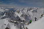 Valluga summit atop St Anton, Austria, Europe 2014, .  John offers private photo tours in Denver, Boulder and throughout Colorado, USA.  Year-round. .  John offers private photo tours in Denver, Boulder and throughout Colorado. Year-round.