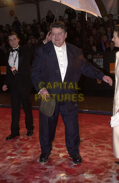 ROBBIE COLTRANE.Arrivals at the British Academy of Film, Television & Arts Awards (BAFTAS), Odeon Leicester Square .Ref: 11498.full length, full-length.*RAW SCAN - photo will be adjusted for publication*.www.capitalpictures.com.sales@capitalpictures.com.© Capital Pictures