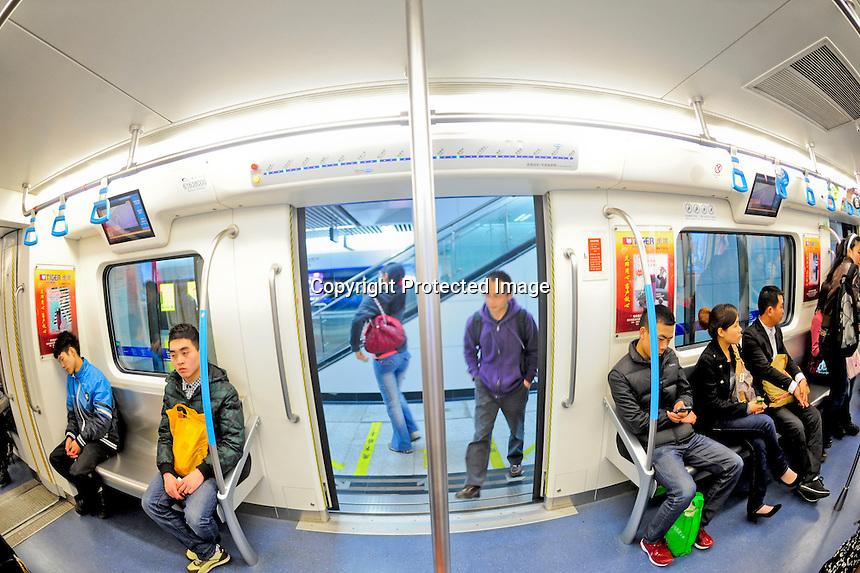 Chengdu Metro line 1 in Chengdu, China.<br /> 12 Mar 2011