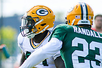Green Bay Packers tight end Emanuel Byrd (49) during a training camp practice on August 29, 2017 at Ray Nitschke Field in Green Bay, Wisconsin.   (Brad Krause/Krause Sports Photography)