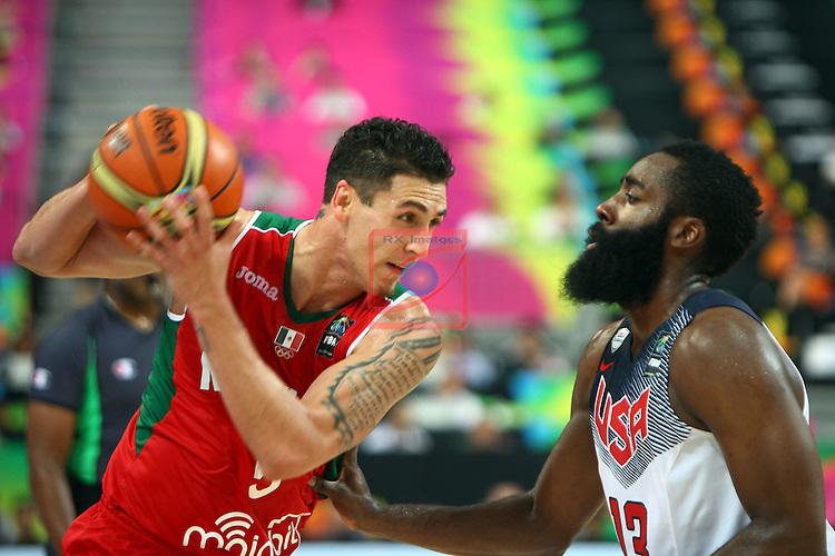2014 FIBA Basketball World Cup-Round of 16.<br /> USA vs Mexico: 86-63.<br /> Marco Ramos vs James Harden.