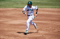 Beloit Snappers center fielder Mike Martin (1) runs the bases during a game against the Bowling Green Hot Rods on May 7, 2017 at Pohlman Field in Beloit, Wisconsin.  Bowling Green defeated Beloit 6-2.  (Mike Janes/Four Seam Images)