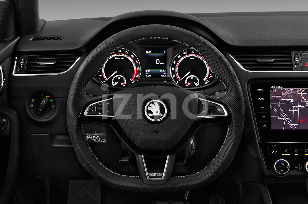 Car pictures of steering wheel view of a 2017 Skoda Octavia-Combi RS 5 Door Wagon Steering Wheel