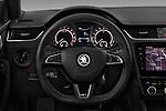 Car pictures of steering wheel view of a 2017 Skoda Octavia-Combi RS 5 Door Wagon Steering Wheel